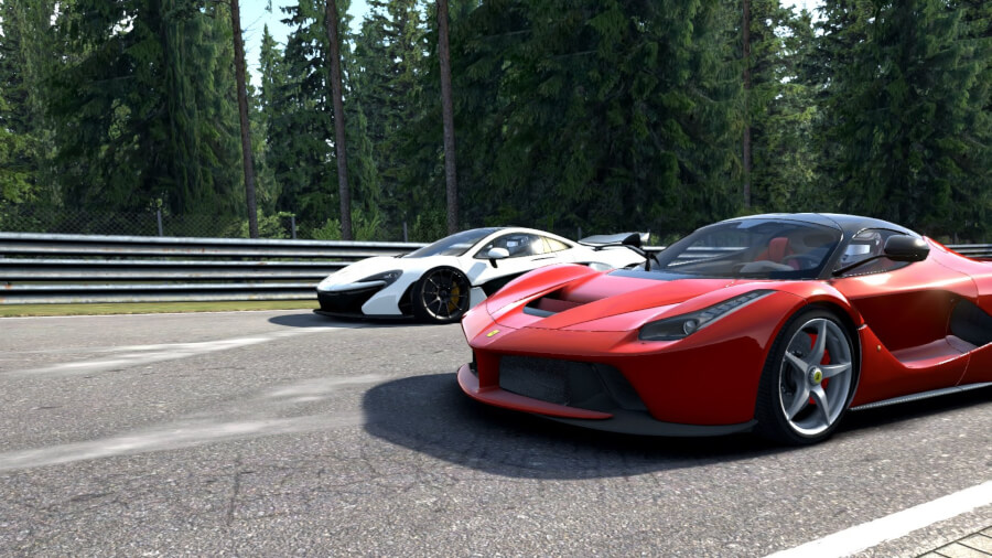 Assetto Corsa La Ferrari red