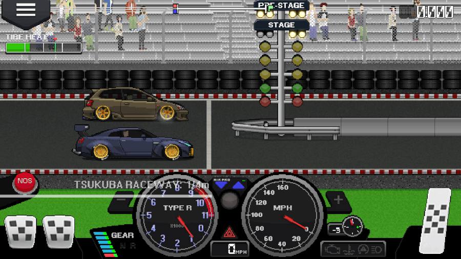 pixel car racer controls