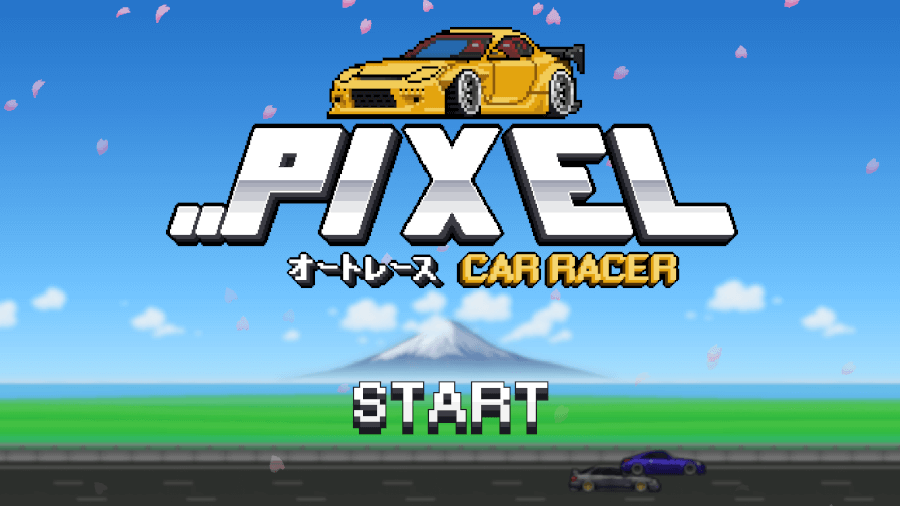 pixel car racer splash screen