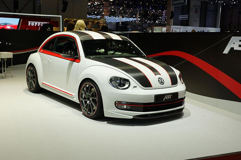 vw beetle sport abt white black stripes