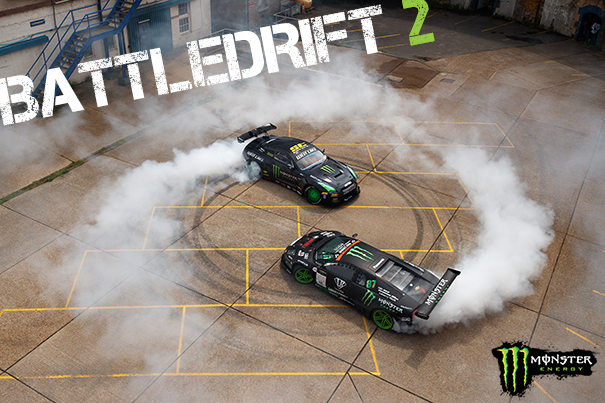 BattleDrift 2 showcases East vs West (Daigo vs. Baggsy) in an epic Drift Battle [MONSTER ENERGY]