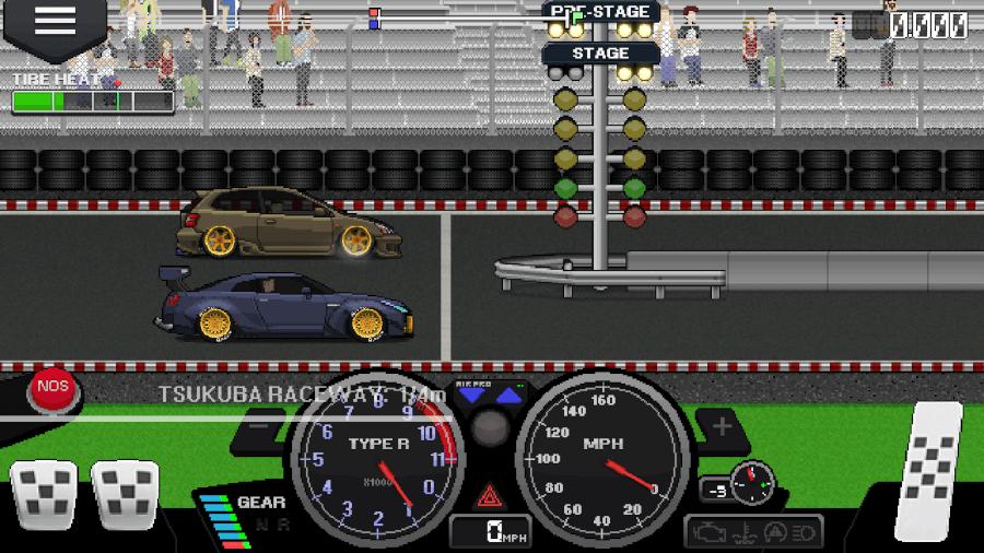 pixel car racer controls