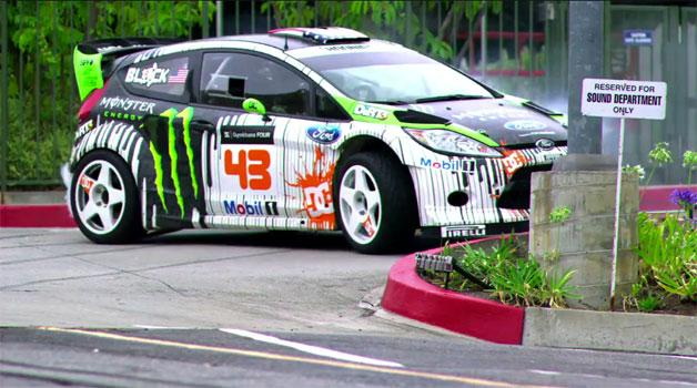 Ken Block's Gymkhana 3. 650BHP + Ford Fiesta = WIN