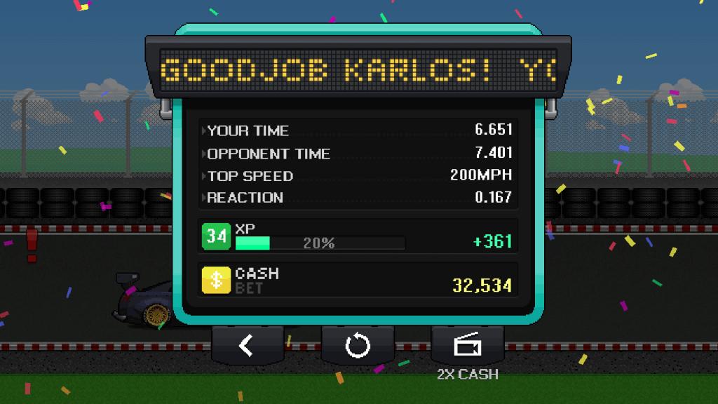 pixel car racer time board turbo nutters