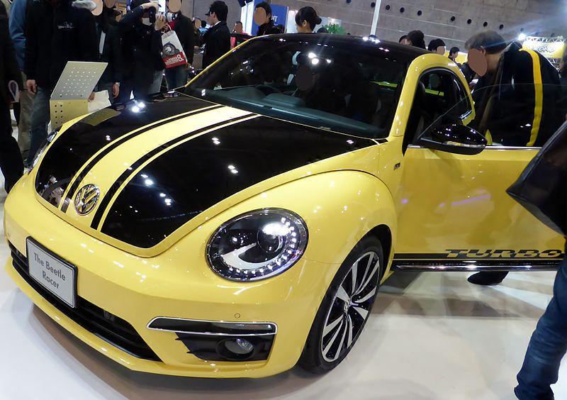 vw beetle racer yellow